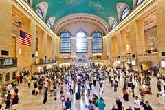 Station centrale grande pendant l'heure de pointe d'après-midi Photographie stock libre de droits