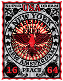 New York Vintage Eagle Poster Man T shirt Graphic Design Royalty Free Stock Images