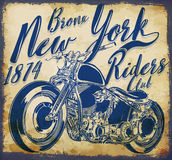 New york vintage t-shirt graphic Stock Photo