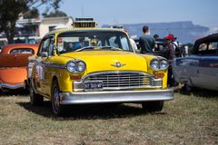 New York Vintage Taxi. New York Style Vintage Taxi. Car Show Cape Town South Africa, December 2016 Stock Photography