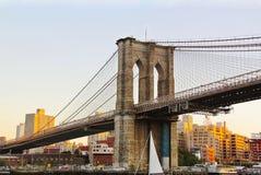 New York Vista su uno dei ponti in Manhattan Fotografie Stock