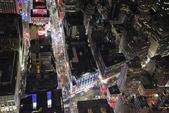 New York vom Empire State Building bis zum Nacht, USA Stockbilder