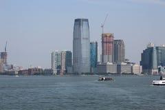 New York vom Hudson-Fluss lizenzfreies stockbild