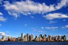 New York von der Flussseite Lizenzfreies Stockbild