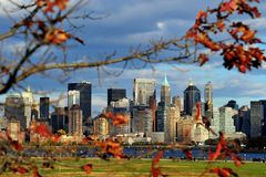 New York von der Flussseite Lizenzfreies Stockfoto