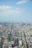 New York von einem Weltturm Lizenzfreie Stockbilder