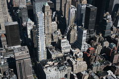 New York von oben Lizenzfreies Stockfoto