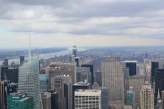 New York von oben Lizenzfreie Stockfotografie