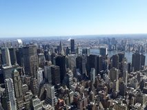 View of new York, empire state building. Empire state building tower view stock photo