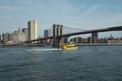 East River Water Taxi, NYC USA Royalty Free Stock Photography