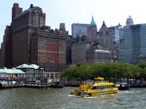 New York Water Taxi at Battery Park NY Royalty Free Stock Photo