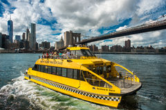 The New York Water Taxi on the route Stock Images