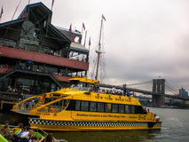 New York Water Taxi. South street sea port, lower manhattan, new york, America, usa Stock Photo