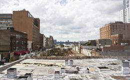 New York West Side View. Construction site on New York west side viewed from highline park Stock Image