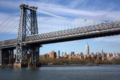 New York - Williamsburg Bridge and the Empire Stock Photo