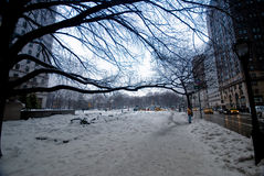 New York during winter Stock Photos
