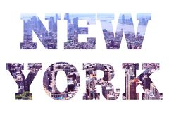 New York word sign royalty free stock images