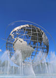 1964 New York World Fair Unisphere in Flushing Meadows Park Royalty Free Stock Photo