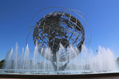 1964 New York World Fair Unisphere in Flushing Meadows Park Stock Photo
