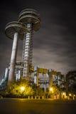 New York World's Fair. At night, flushing meadows stock image