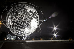 New York World's Fair. 1964 New York World's Fair Unisphere in Flushing Meadows at night Royalty Free Stock Photo