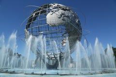 1964 New York World`s Fair Unisphere in Flushing Meadows Park. NEW YORK - AUGUST 22, 2016: 1964 New York World`s Fair Unisphere in Flushing Meadows Park. It is royalty free stock photography