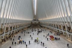 New York World Trade Center stazione dell'11 settembre immagini stock libere da diritti