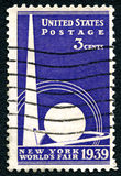 New York Worlds Fair USA Postage Stamp Stock Photo