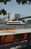 Yacht on the East River, New York USA Royalty Free Stock Photography