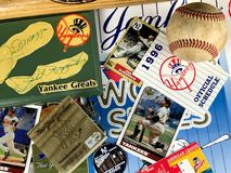 New York Yankee Collage. A collage of memories related to the New York Yankees through the years Stock Images