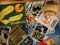 New York Yankee Collage. A collage of memories related to the New York Yankees through the years Stock Image