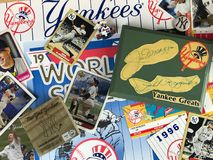 New York Yankee Collage. A collage of memories related to the New York Yankees through the years Stock Photo