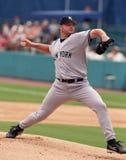 New York Yankee Roger Clemens arkivbild