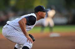 New York Yankees-Baseball-Spieler Alex Rodriguez-Rehabilitationsaufgabe Stockbild