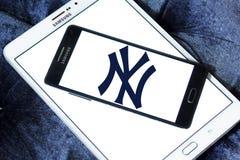New York Yankees, ny baseballa klubu sportowego logo zdjęcia royalty free