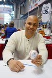New York Yankees player Carlos Beltran during autographs session in New York Stock Photos