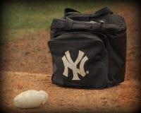 New York Yankeesbollpåse Arkivbilder