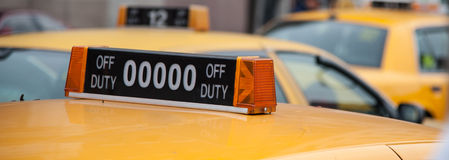 New york yellow cab Royalty Free Stock Image