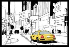 New York yellow cab Stock Photo