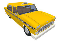 New-york yellow taxi Stock Photos