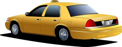 New York yellow taxi cab Royalty Free Stock Image