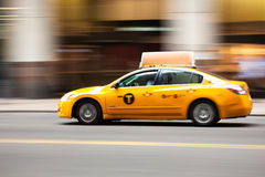 New York yellow taxi cab - Manhattan - USA - United States of Am Stock Photos