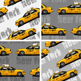 New York Yellow Taxi Cab seamless background Royalty Free Stock Images