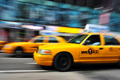 New York Yellow taxicab Stock Images