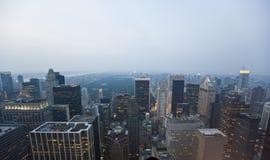 New York, zonsondergang Stock Fotografie