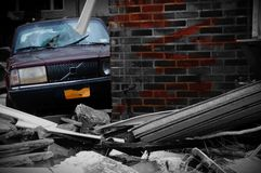 New- Yorkconeyinsel-Rückstandstrandhurrikan sandig stockfoto