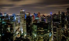 New- Yorkdachspitzenhimmelansicht lizenzfreies stockbild