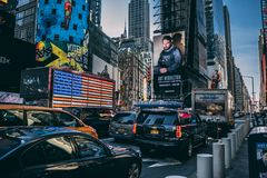 New Yorke Times Square. 2019 royalty free stock photo