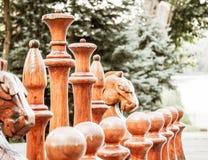 New-Yorker Börse mit rotem Schach auf der Straße Stockbilder