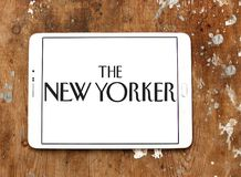 The New Yorker magazine logo. Logo of The New Yorker magazine on samsung tablet.The New Yorker is an American magazine of reportage, commentary, criticism Royalty Free Stock Photo